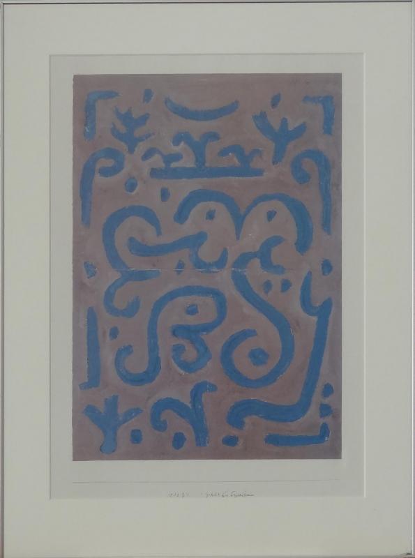 Kategorie Verkaufte Bilder Bild Paul Klee Gedicht 1940