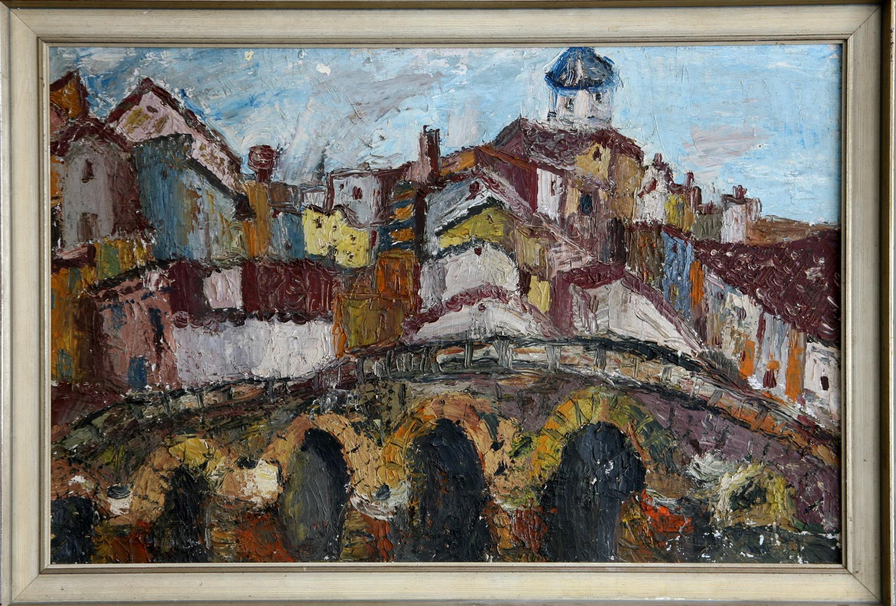 0334 Expressionist Stadt in Italien
