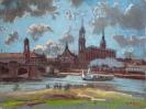 Bernhard Heinrich Buss, Ansicht von Dresden mit Dampfer