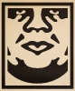 Shepard Fairey, OBEY 3-FACE (CREAM)