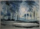 Agathe Baumann, Mond über dem Wald I - o.J.