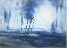 Agathe Baumann, Mond über dem Wald II – 1991