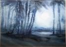 Agathe Baumann, Mond über dem Wald IV – 1991