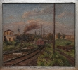 JH – Schwäbischer Maler 20 Jh, Güterbahnhof – o. J.