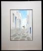 Stephen - Maler 20. Jh., Griechenland,  Blick auf eine Windmühle - o.J.